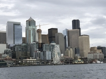 Seattle skyline Of course its cloudy