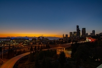 Seattle sunset taken tonight from Rizal Bridge