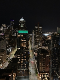 Seattle WA from a high-rise apartment in downtown