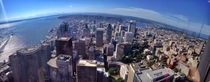 Seattle WA from the tallest building in the city