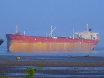 Seawise Giant the longest ship ever beached at Alang India scrapyard waiting for her final fate