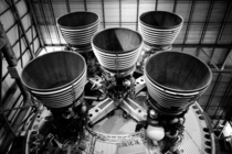 Second stage motors of a Saturn V OC