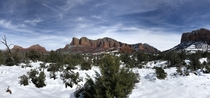 Sedona AZ is beautiful after a blizzard  x