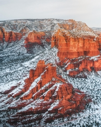 Sedona vortex looking extra magical blanketed in snow - Sedona AZ  Instagram kylefredrickson