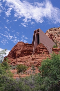 Sedonas beautiful Chapel of the Holy Cross Built  in Arizonas famous red rock-flanked city