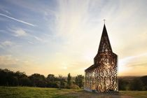 See-through church LimburgBelgium by Gijs Van Vaerenbergh
