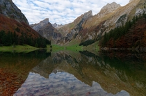 Seealpsee lake-alp-lake during automn  IG travelphil
