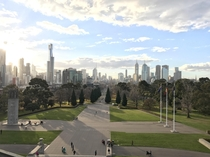 Seems Melbourne is getting the attention it deserves this is the view from the park