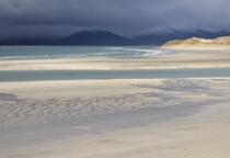 Seilebost beach just after a storm - Outer Hebrides Scotland