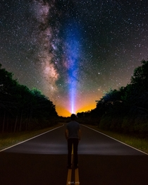 Self portrait with the Milky Way at Assateague Island National Seashore in Maryland