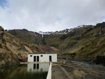 Seljavallalaug semi-abandoned geothermal pool in Iceland