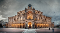 Semper opera house in Dresden Germany