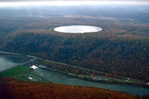 Seneca Pumped Storage Reservoir Pennsylvania The reservoir holds  billion gallons of water and covers  acres It was completed in
