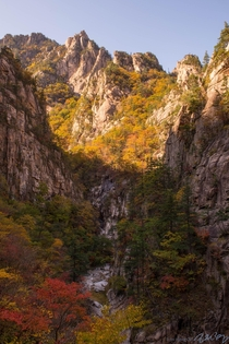Seorak mountain in Gangwon-do South Korea