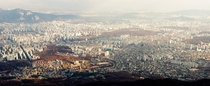 Seoul from atop Bukhansan