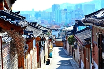 Seoul from the Bukchon Hanok Village