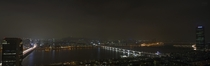 Seoul one of the largest cities in the world Night-time panorama stacked s exposures