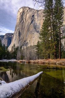 Serene afternoon sun on El Capitan Yosemite CA