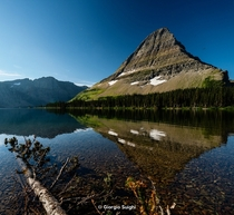 Serenity and reflection in Hidden Lake Trail Glacier National Park Montana  IG GiorgioSuighi