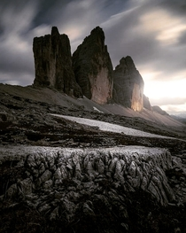 Serious Mordor vibes at the Drei Zinnen in the Dolomites Italy