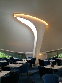 Serpentine Sackler Gallery - Restaurant Interior by Zaha Hadid Architects London England