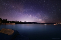 Settling in for the night on a sail boat under a canopy of stars on Lake Tahoe  x-post rspace
