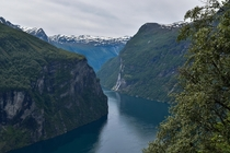 Seven Sisters waterfall and Geirangerfjord  x