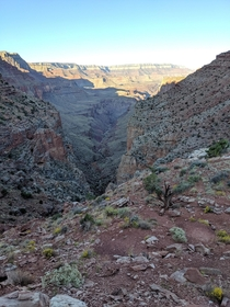 Seventy-five Mile Creek viewed from the saddle between Seventy-five Mile Canyon and Tanner Canyon of the Grand Canyon