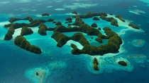 Seventy Islands in Palau from the air