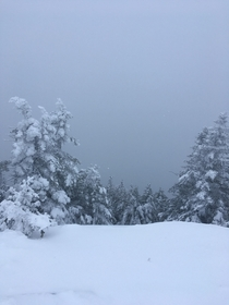 Shades of gray In the clouds atop Madonna Mountain VT