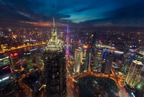 Shanghai at Night  Photographed by Espinozr
