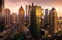 Shanghai at sunset