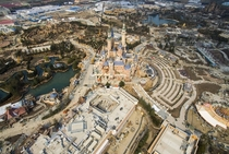 Shanghai Disneyland Park under construction in March