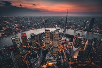 Shanghai from above Credit Denys Nevozhai