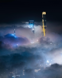 Shanghai in the clouds
