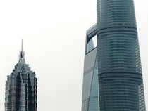 Shanghai L-R JinMao Tower Shanghai World Financial Center Shanghai Tower completion