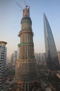 Shanghai Tower under construction nov