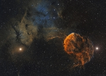 Sharpless  and the Jellyfish Nebula  Image Credit Steve Milne and Barry Wilson