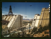 Shasta dam under construction California June  Photo Russell Lee