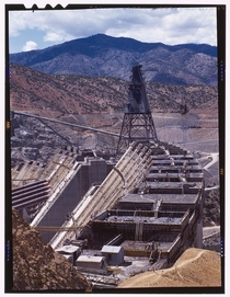 Shasta dam under construction June  by Russell Lee