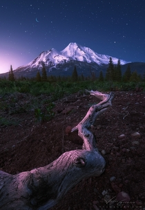 Shasta Dream by Victor Carreiro Mount Shasta at the twilight hour