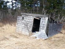 Shed near former site of Uffelman residence Machiasport ME