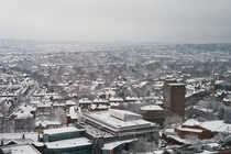 Sheffield UK in the Snow January
