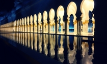 Sheikh Zayed Mosque gates Abu Dhabi by architect Yusef Abdelki