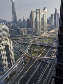 Sheikh Zayed Road Dubai from st floor