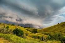 Shelf cloud over Rapid City SD