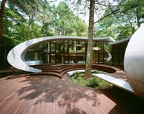 Shell House in the woods of Karuizawa in Japan designed by Kotaro Ide