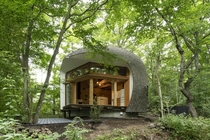Shell House somewhere in Japan Designed by Tono Mirai Architects completed in