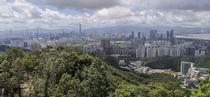 Shenzhen as viewed from Meilinshan