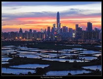 Shenzhen China from Hong Kongs new Territories - by William Wong